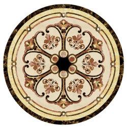 Noir Beige Marbre Waterjet médaillon Tile