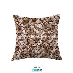 Hotel Bedding Upscale de veludo Impressão Digital Seixos Estofados almofada da cama Exact