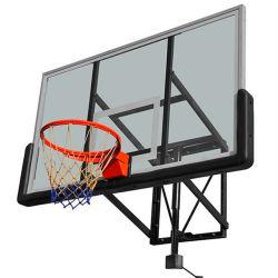 Parete che monta il sistema di pallacanestro del piano di sostegno di vetro Tempered con l'accessorio del cerchio