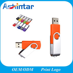 подарок для продвижения металлический флэш-накопитель USB Пластиковые поворотные Twister USB Memory Stick™
