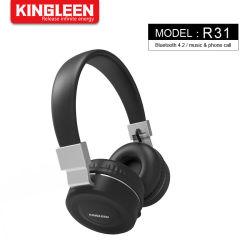 耳のヘッドホーンのFoldableヘッドセットMic上の無光沢の終わりの優れた再充電可能な無線ヘッドホーンBluetooth