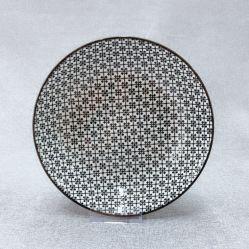 La Porcelaine Céramique lune la plaque d'Cookie festive