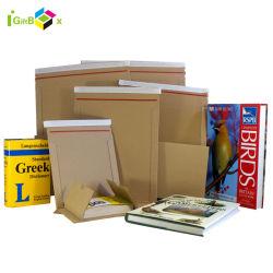 赤色の粘着テープクロージャーカスタムメーラーカードボード封筒パッケージ ブックの場合