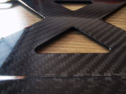 140mm*450mm Soporte de matrícula de fibra de carbono