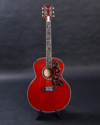 "Retalhos Vinha Viper Red 43"" Jumbo J200r Acoustic guitarra eléctrica"