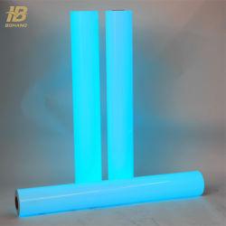 Impresión en color azul que brilla en la oscuridad los rodillos de PVC fotoluminiscente