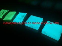 다크 파우더 안료(Dark Powder Pigment)의 블루 그린 라이트 글로우(Blue Green Light Glow) 안전 조명 표지