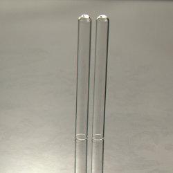 Limpar a estrutura tubular da proveta de vidro de fundo redondo
