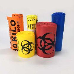 Sacchetti medici del LDPE dell'HDPE di sterilizzazione dei rifiuti residui clinici di plastica dell'ospedale