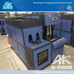 Mediante el intercambio de la botella de plástico PET moldes pequeña botella que hace la máquina semiautomática Molder maquinaria de moldeo por soplado la botella de 1,5 l.