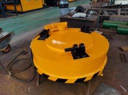 전기 자석 장치를 드는 강철 공은 1 톤 드는 자석 자석 기중기를 조각낸다