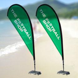 2.5m enkele dubbele klant volledige kleur BeachFlag Teardrop vlag