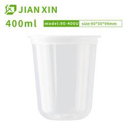 Pas het Drinken van het Appelsap van de Druk de Plastic Kop van U aan