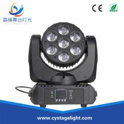 7 * 12W RGBW 4en1 Faisceau de LED Osram/lavage Déplacement de la lumière de la tête