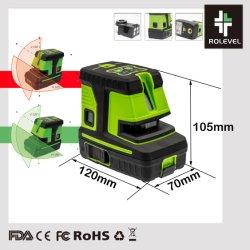 148FT et 197FT autonivelant Cross Line Power Plumb Point lasers de précision 0,3 mm/m Niveau laser (GIM5)