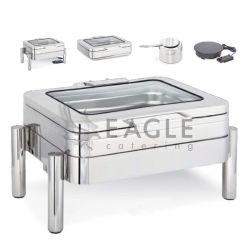 Acero inoxidable más cálidas cocina de inducción eléctrica roces Dish Chafer Buffet Ware
