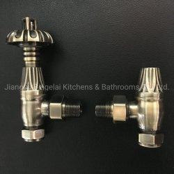 Старинные латунные угол традиционных термостатический клапан для чугунного радиатора