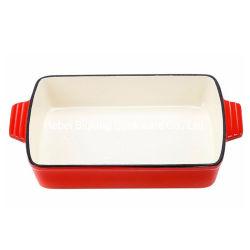Émaillé de grillage de cuisson en fonte rectangulaire Ustensiles de cuisine Pan pour plaque de vaisselle de table La FDA a approuvé