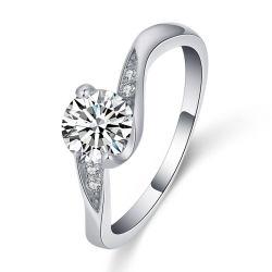 Novas exclusivas de moda do Anel do dedo para o seu ouro branco cristal chapeado Zircon11088 ESG