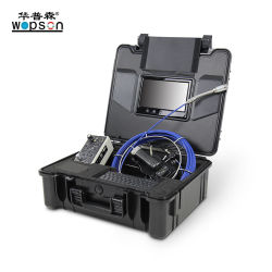23mm Langer Feder-Kamerakopf Integrierte 12-LEDs Wasserdichte Drain Inspection Kamera