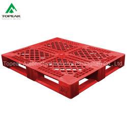 1200x1000mm de face dupla bandeja de paletes plásticos Warehouse Euro lado único de transporte pesado de empilhar de HDPE com capacidade de carga de paletes de plástico de HDPE