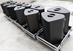 15pouces coaxial haute puissance de la gamme complète de néodyme stade haut-parleur du moniteur