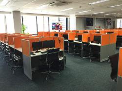 중국 공장으로 만든 사무실 가구 MFC 사무실 큐비클 워크스테이션 데스크 클러스터