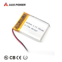 Usine UL2054 CB Kc 603040 de la batterie au lithium polymère 3,7 V 750mAh Batterie Lipo pour batterie de téléphone mobile