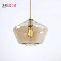 Tazón de vidrio de lujo lámpara colgante para el Salón café ((ZLA056P-L)