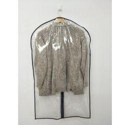 O logotipo OEM impresso PEVA clara PVC PE vestido de noiva prensa para cobrir o saco de roupa