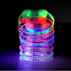 도매 아크릴 번쩍이는 팔찌, LED 저속한 팔찌 당을%s 전자 놀 팔찌 장난감