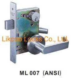 Fuego de bloqueo de puertas de acero inoxidable con certificado UL (ML007)