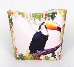 Shopping sac fourre-tout sac fourre-tout polyester coton sac de plage de corde en toile de coton