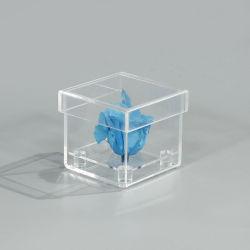 Einzelne Miniacrylluxuxblumen-Rosen-verpackenkasten