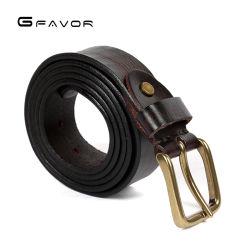 Fabricante profesional de la genuina correa de cuero Vintage estilo clásico, cinturón