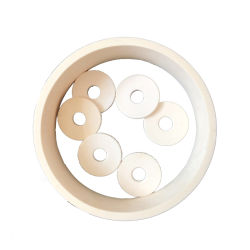 Usine de gros anneau d'alumine ronde en céramique/pièces