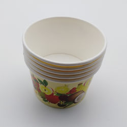 Meilleur Prix de gros de la crème glacée biodégradable les tasses de papier pour le parti