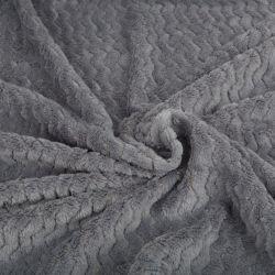 بطانية من قماش الوافل بوب من الذرة وفلانيل Fleece ذات طباعة صلبة 100% من البوليستر
