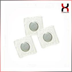 Водонепроницаемый прозрачных швейных ПВХ/TPU квадратных/круг упаковки постоянного магнитного кнопку