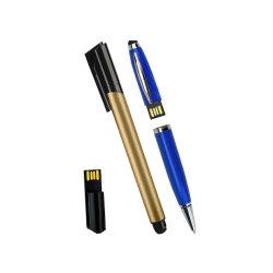 レーザーのロゴのプラスチック8GB 16GB 32GB USBのフラッシュ駆動機構のボールペン