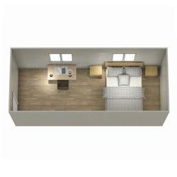 Fabrico conjunto Mobile Homes Gabinete modular contentor Haus