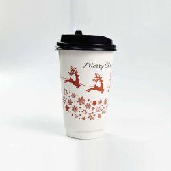 20oz Извлеките двойные стенки горячие напитки бумаги чашки с пластмассовой крышки багажника