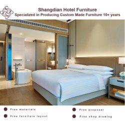 Chinese Commercial Set Appartement Villa Hotel Slaapkamer meubilair met modern Woonkamer 5 Sterren