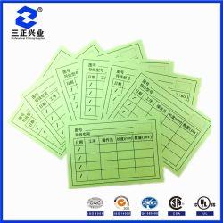 Spécialement conçu vert imprimé recto-verso des cartes de ligne industrielle Label