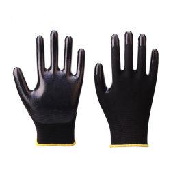 China-tauchte industrielle Sicherheits-Arbeits-Handschuh-Großhandelsnitril Handschuh-Aufbau-Nitril-Handschuhe ein