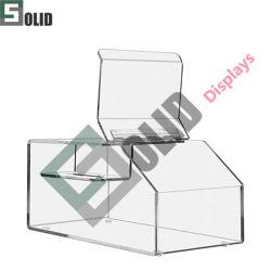 Acrílico Display acrílico Cosmetic Display Factory Atacado diversificado material Luxo Visor superior do contador cosmético acrílico