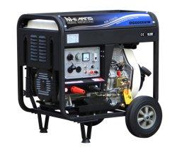 На открытой раме тип сварки дизельный генератор с колесами (DG6000EW)
