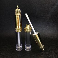 王冠のふたの透過リップの光沢の管のリップ・クリームのびんの化粧品の管が付いている8ml口紅の容器