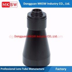 Óptica Industrial anodizado negro espejo Large-Angle Accesorios Piezas de mecanizado CNC de barril
