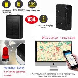 IP67 à prova de 9000mAh Smart Solar Tracker GPS para carro Asset Bovinos Ovinos V34